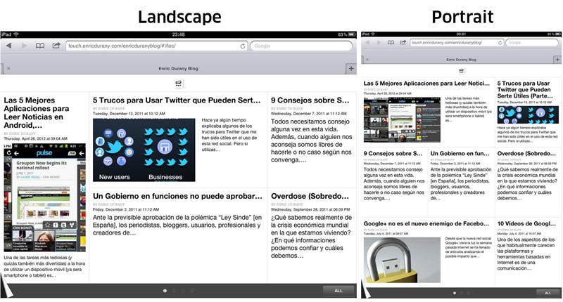 Nueva Versión del Blog para iPad y Tabletas – Enric Durany