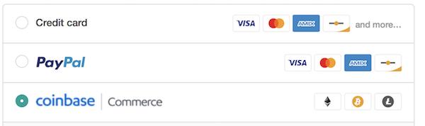 Coinbase service for merchants