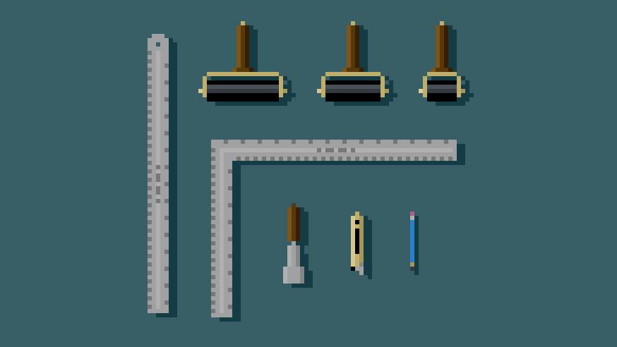 tools pixel art